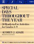Special Days Throughout the Year 50 Ready-To-Use Activities for Grades 3-9