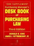 Purchasing Manager's Desk Book of Purchasing Law, 1999 Cumulative Supplement - Donald King -...
