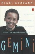 Gemini An Extended Autobiographical Statement on My First Twenty Five Years of Being a Black...