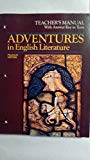 Adventure in English Literature Teachers Manual w/ Ans Key to Tests