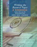 Writing the Research Paper A Handbook With Both the Mla and Apa Documentation Sytles