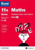 Bond 11+: Maths: Multiple Choice Test Papers: Pack 1