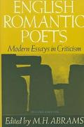 English Romantic Poets Modern Essays in Criticism