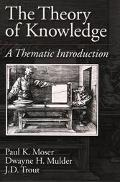 Theory of Knowledge A Thematic Introduction