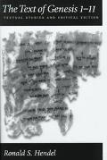 Text of Genesis I-II Textual Studies and Critical Edition