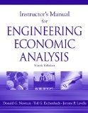 Instructors Manual for Engineering Economic Analysis: Ninth Edition