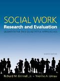 Social Work Research And Evaluation Quantitative And Qualitative Approaches