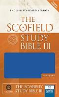 Scofield Study Bible III English Standard Version Bonded Leather Blue