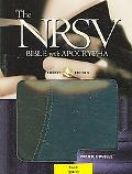 Holy Bible New Revised Standard Version With Apocrypha, Black/Blue Leather, Pacific Duvelle
