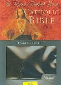 Holy Bible Revised Standard Version, Black/blue, Pacific Duvelle, Catholic Bible, Thumb Indexed