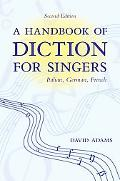 Handbook of Diction for Singers Italian, German, French