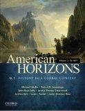 American Horizons: U.S. History in a Global Context, Volume I: To 1877