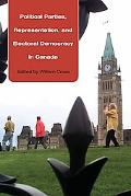 Political Parties, Representation, and Electoral Democracy in Canada