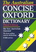 Australian Concise Oxford Dictionary of Current English