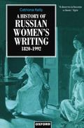 History of Russian Women's Writing 1820-1992