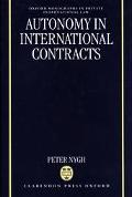 Autonomy in International Contracts