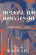 Information Management The Organizational Dimension