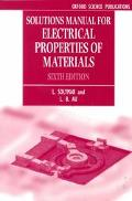 Solutions Manual for Electrical Properties of Materials, Sixth Edition