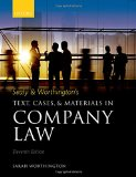 Sealy & Worthington's Text, Cases, and Materials in Company Law, 11th Ed.