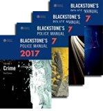 Blackstone's Police Manuals 2017: Four Volume Set, 2017 Ed.