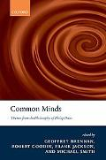 Common Minds Themes from the Philosophy of Philip Pettit