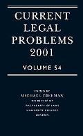 Current Legal Problems 2001