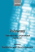 Polysemy Theoretical and Computational Approaches