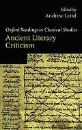 Ancient Literary Criticism Oxford Readings in