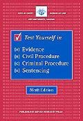 Test Yourself in Evidence, Civil Procedure, Criminal Procedure, Sentencing (Blackstone Bar M...