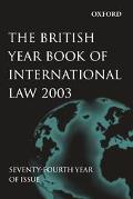 British Year Book Of International Law 2003
