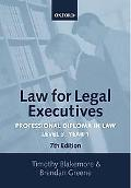 Law for Legal Executives