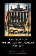 History of Public Law in Germany 1914-1945