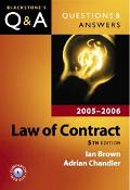 Law of Contract 2005 - 2006