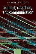 Content, Cognition, and Communication Philosophical Papers II