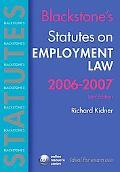Blackstone's Statutes on Employment Law 2006-2007