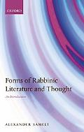 Forms of Rabbinic Literature and Thought An Introduction