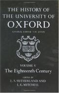 History of the University of Oxford The Eighteenth Century