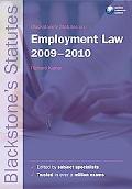 Blackstone's Statutes on Employment Law 2009-2010 (Blackstone's Statute Book Series)