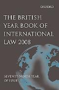 British Year Book of International Law 2008: Volume 79