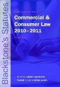 Blackstone's Statutes on Commercial and Consumer Law 2010-2011