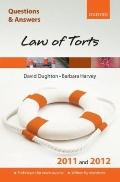 Q and a Law of Torts 2011 and 2012