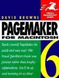 PageMaker 6 for MacIntosh (Visual QuickStart Guide) - David Browne - Paperback