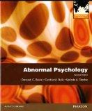 Abnormal Psychology International Editio