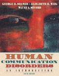Human Communication Disorders :??An Introduction (Hardcover, 1998)
