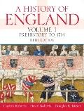 History Of England, Volume 1 (Prehistory To 1714)- (Value Pack w/MySearchLab)