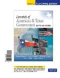 Essentials of American & Texas Government: Continuity and Change, 2009 Edition, Books a la C...
