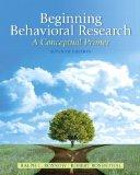 Beginning Behavioral Research: A Conceptual Primer Plus MySearchLab with eText -- Access Car...