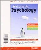 Statistics for Psychology, Books a la Carte Plus NEW MyStatLab with eText -- Access Card Pac...