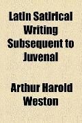 Latin satirical writing subsequent to Juvenal