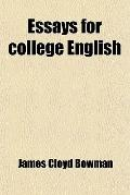 Essays for college English